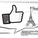 Plaquinhas Paris Preto e Branco 22