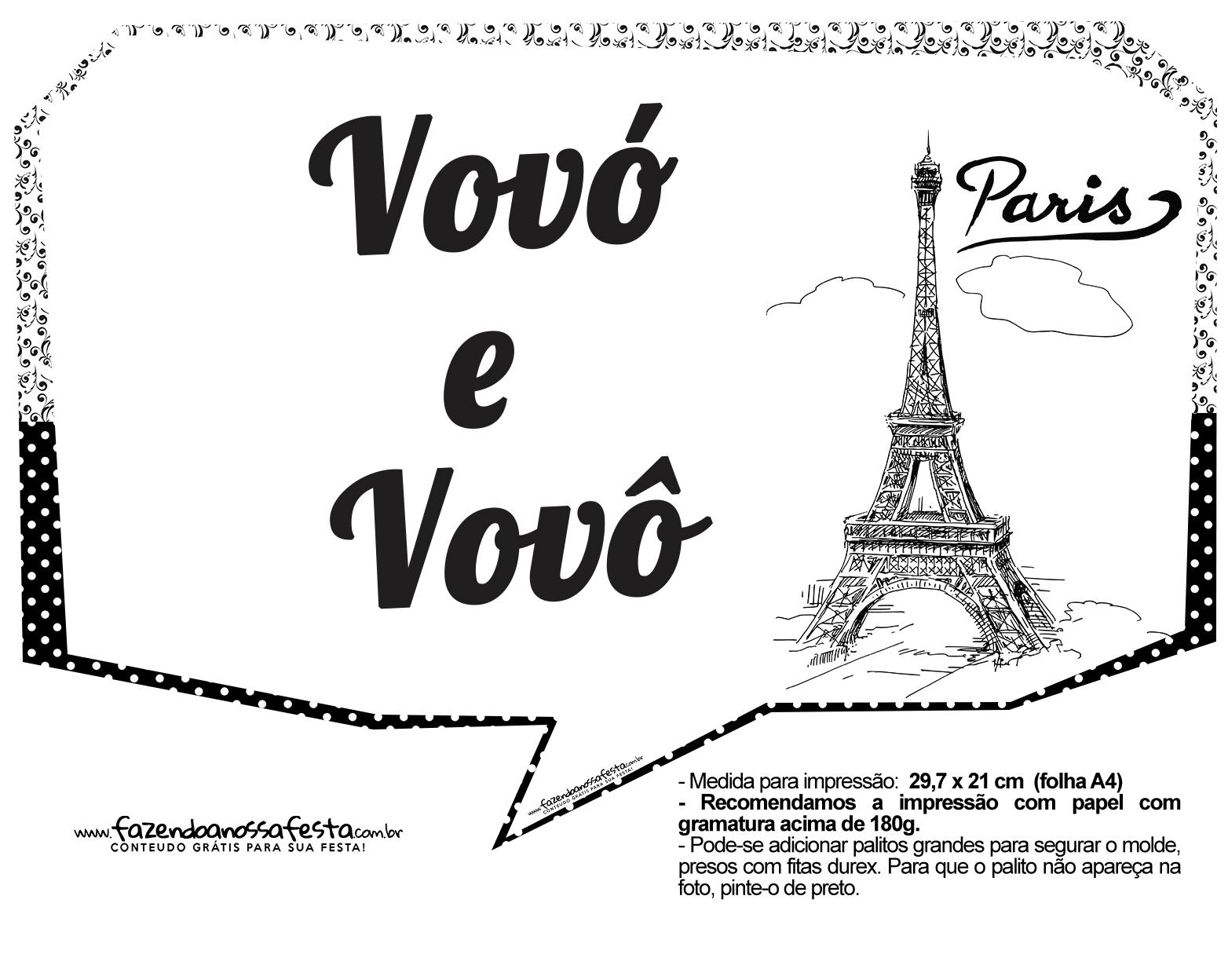 Plaquinhas Paris Preto e Branco 4
