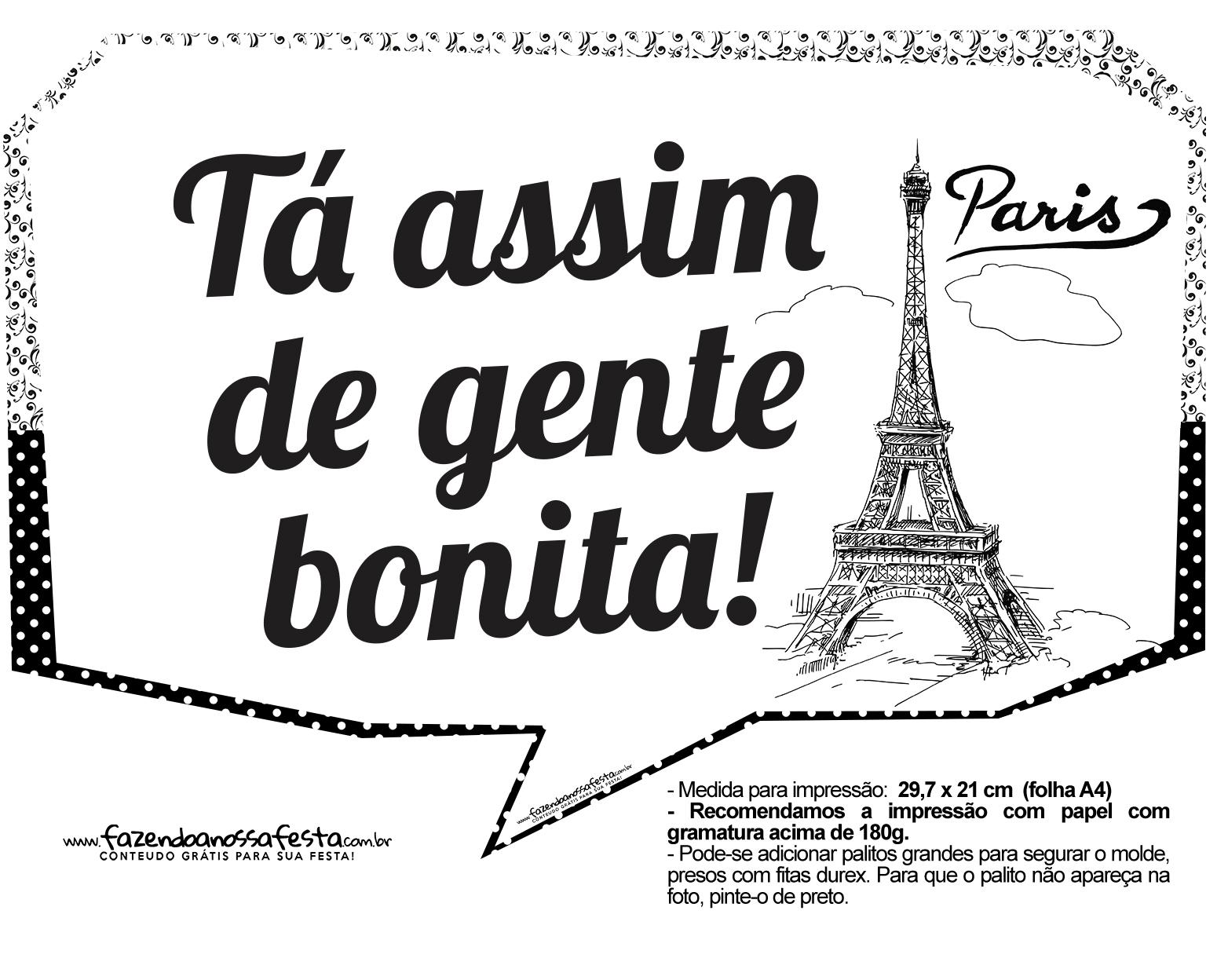 Plaquinhas Paris Preto e Branco 6