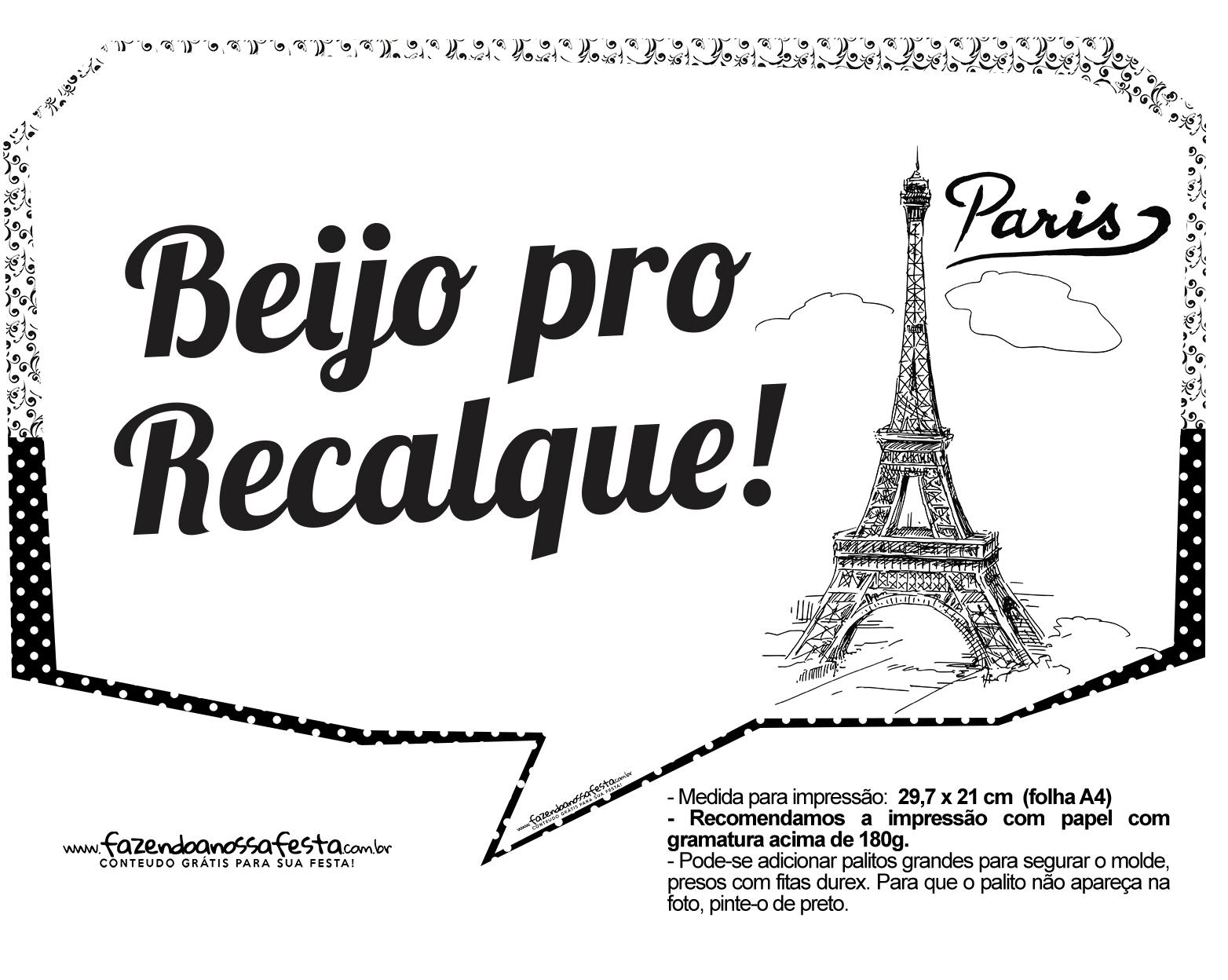 Plaquinhas Paris Preto e Branco 8