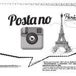 Plaquinhas Paris Preto e Branco 9