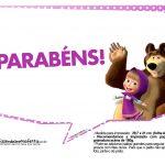 Plaquinhas divertidas Masha e o Urso 7