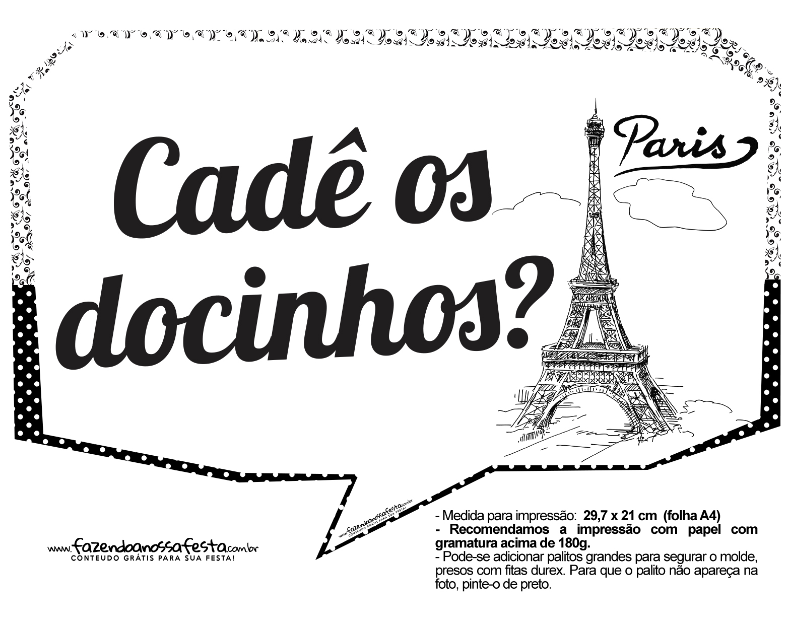 Plaquinhas divertidas Paris 1
