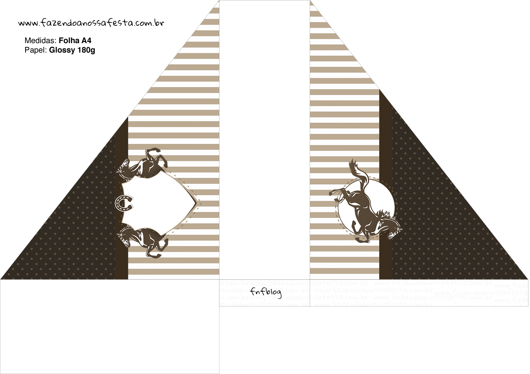 Porta Guardanapos Cavalo