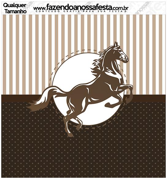 Quadrado qualquer tamanho Kit Festa Cavalo