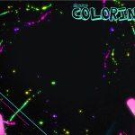 Revista Colorindo Capa Kit Festa Neon