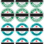 Rótulo Cerveja Dia dos Namorados Verde e Azul