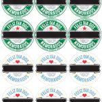 Rótulo Cerveja Long Neck Dia dos Namorados Verde e Azul