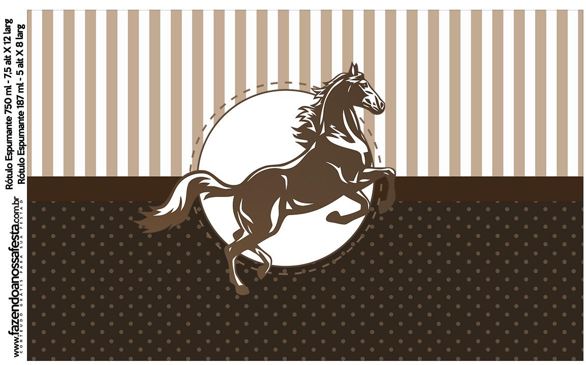 Rotulo Espumante Cavalo
