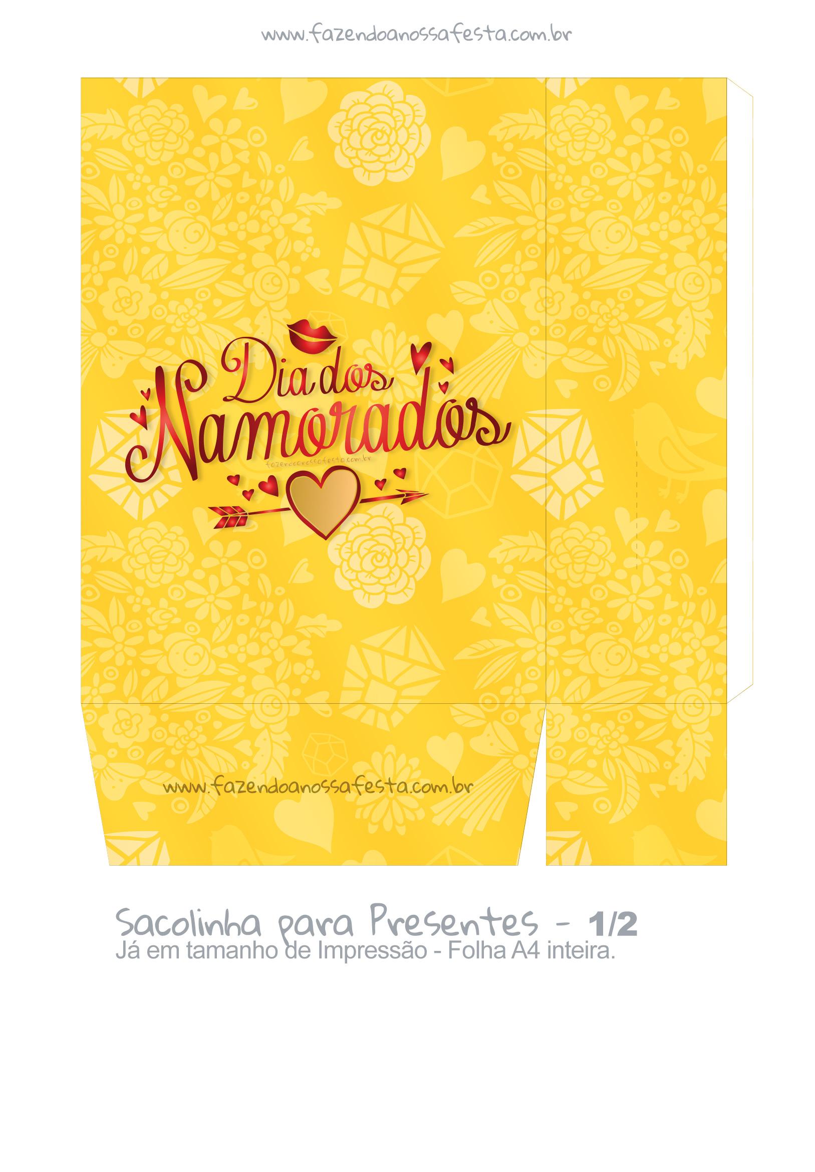 Sacolinha Dia dos Namorados Amarela - parte 2