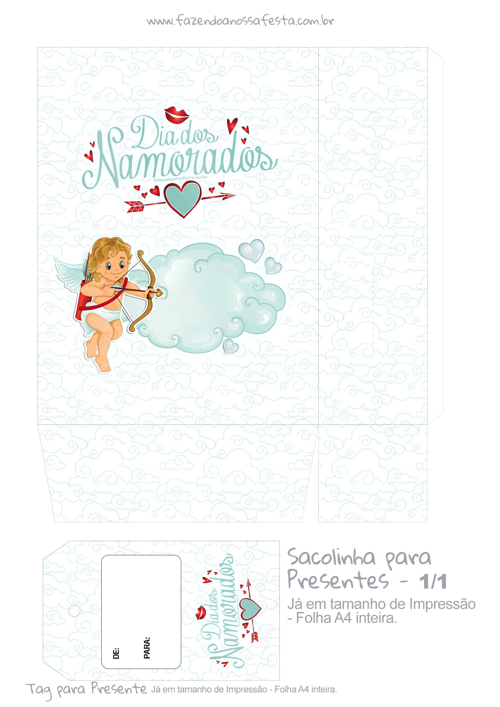 Sacolinha Dia dos Namorados Anjinho Azul - parte 1