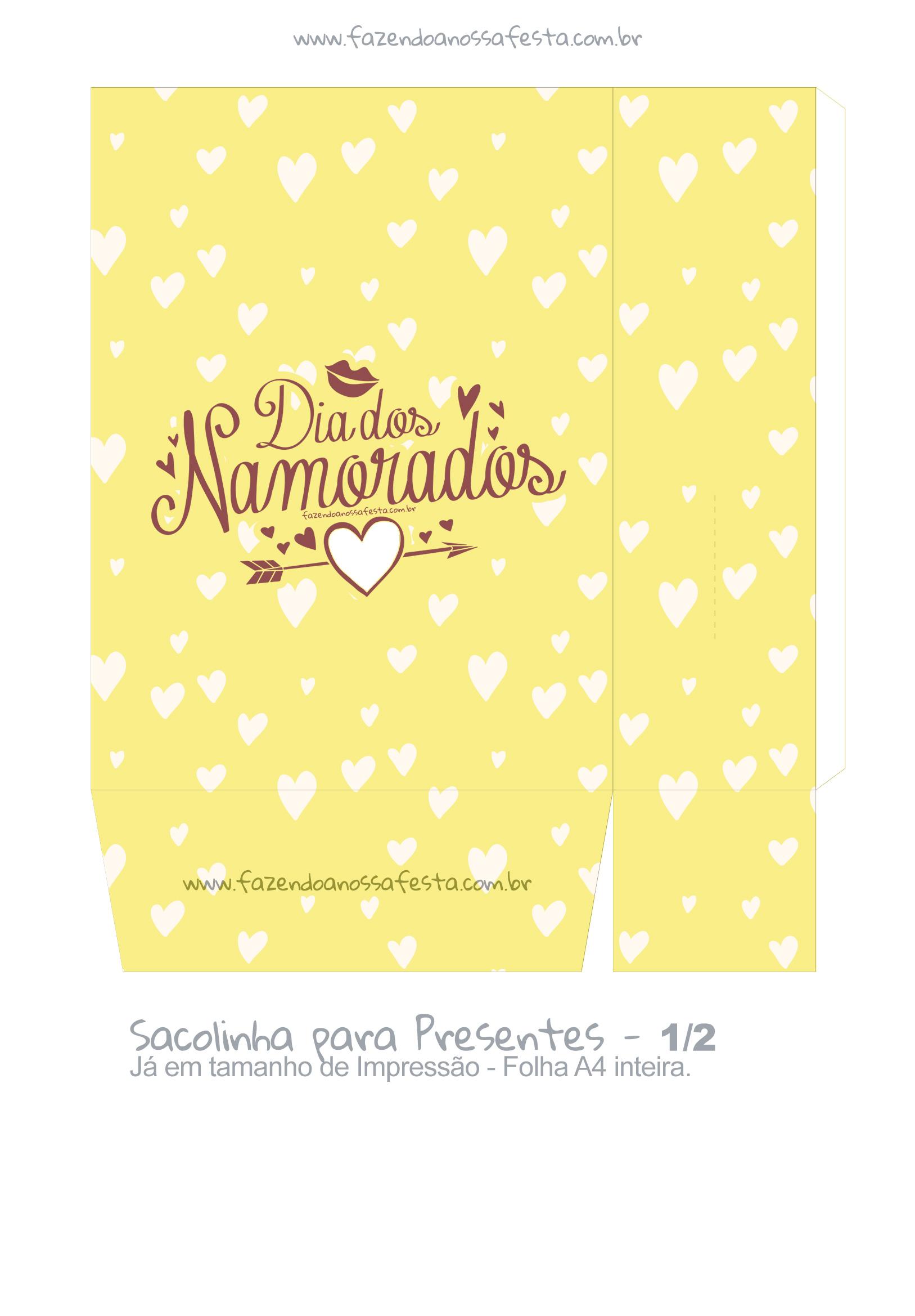 Sacolinha Dia dos Namorados Coracao Amarelo - parte 2