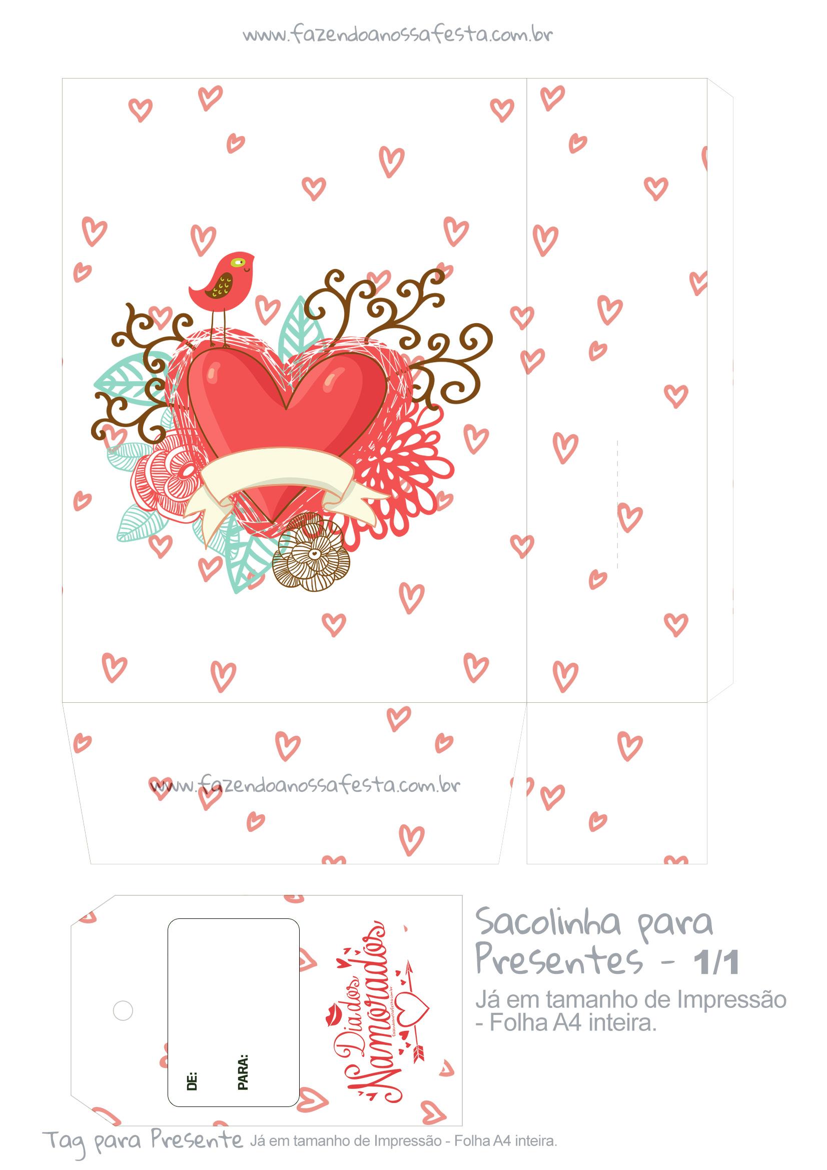 Sacolinha Dia dos Namorados Coracao - Parte 1