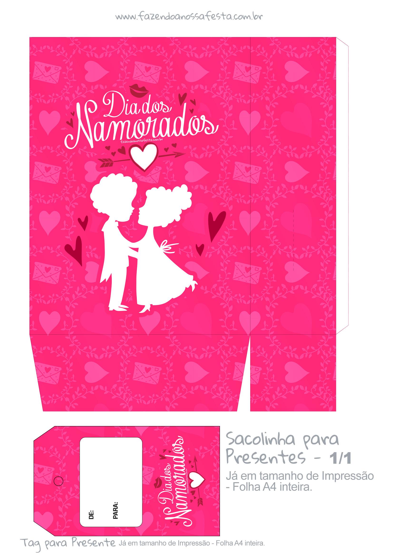Sacolinha Dia dos Namorados Rosa - parte 1
