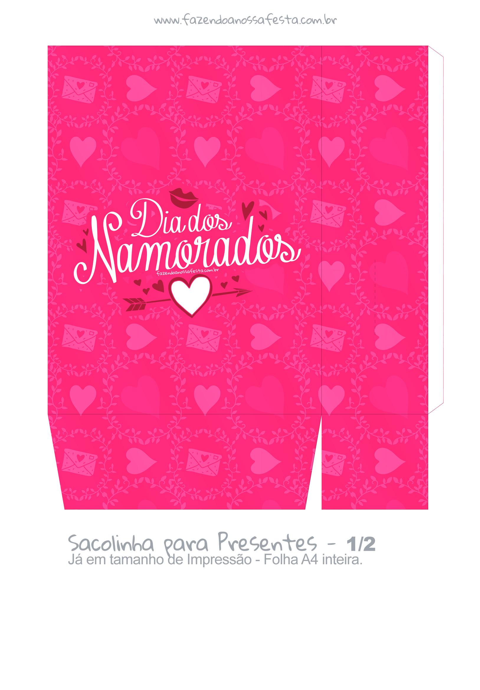 Sacolinha Surpresa Dia dos Namorados Rosa- parte 2