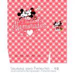 Sacolinha Surpresa Vermelho Kit Presente Mickey e Minnie Vintage- parte 2