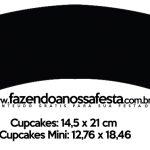 Saias Wrappers para Cupcakes 2 Festa Neon