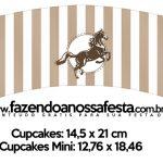 Saias Wrappers para Cupcakes Cavalo