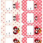 Tag Agradecimento Kit Presente Mickey e Minnie Vintage