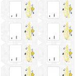 Tag Presente Dia dos Namorados Cinza e Amarelo