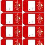 Tag para Presente Dia dos Namorados Vermelha