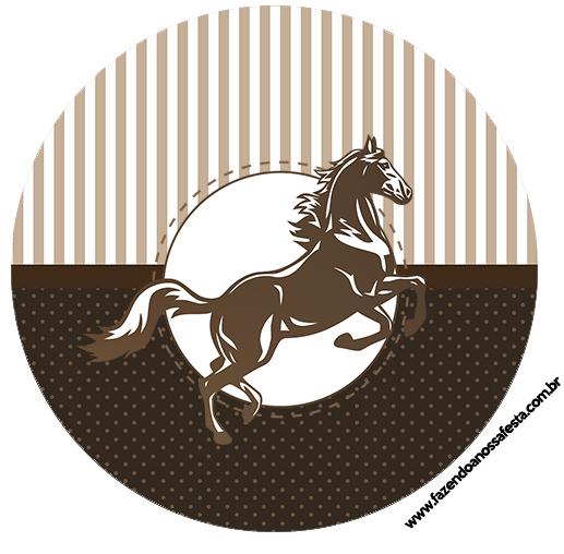 Toppers de docinhos Cavalo