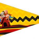 Bandeirinha Sanduiche 3 Snoopy e sua Turma