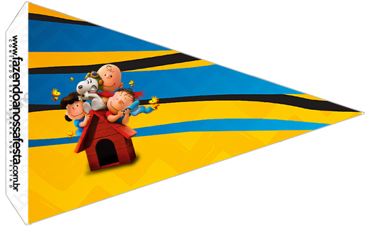 Bandeirinha Sanduiche 5 Snoopy e sua Turma