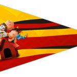 Bandeirinha Sanduiche 6 Snoopy e sua Turma