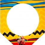 Bandeirinha Sanduiche Snoopy e sua Turma