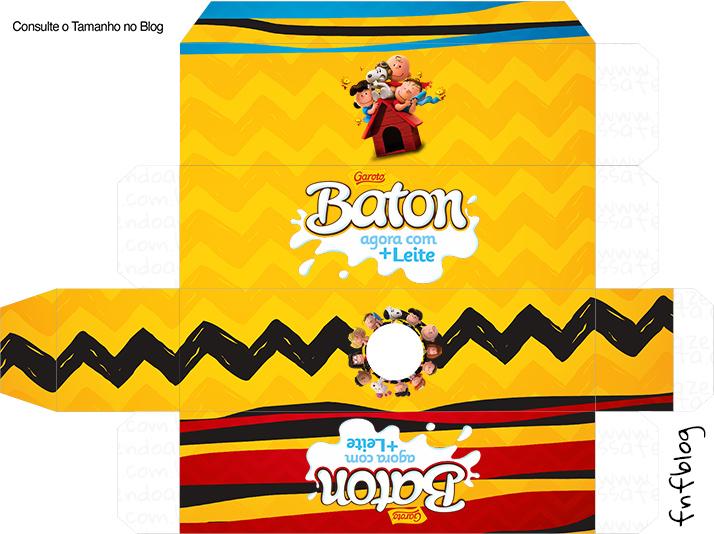 Caixa Baton Snoopy e sua Turma