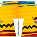 Caixa Camisa Snoopy e sua Turma