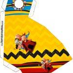Caixa Fatia Kit Festa Snoopy e sua Turma