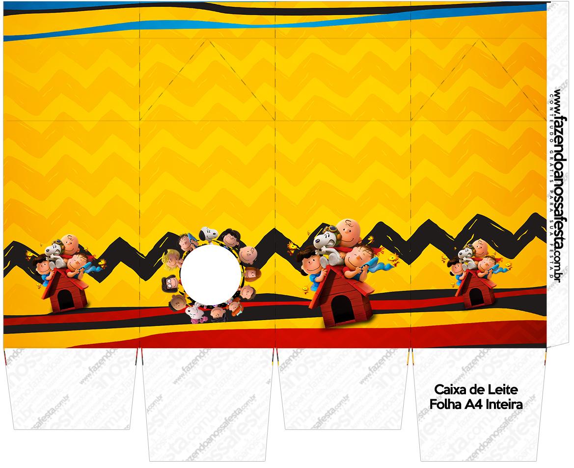 Caixa de Leite Snoopy e sua Turma