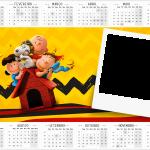 Calendario 2016 com foto Snoopy e sua Turma