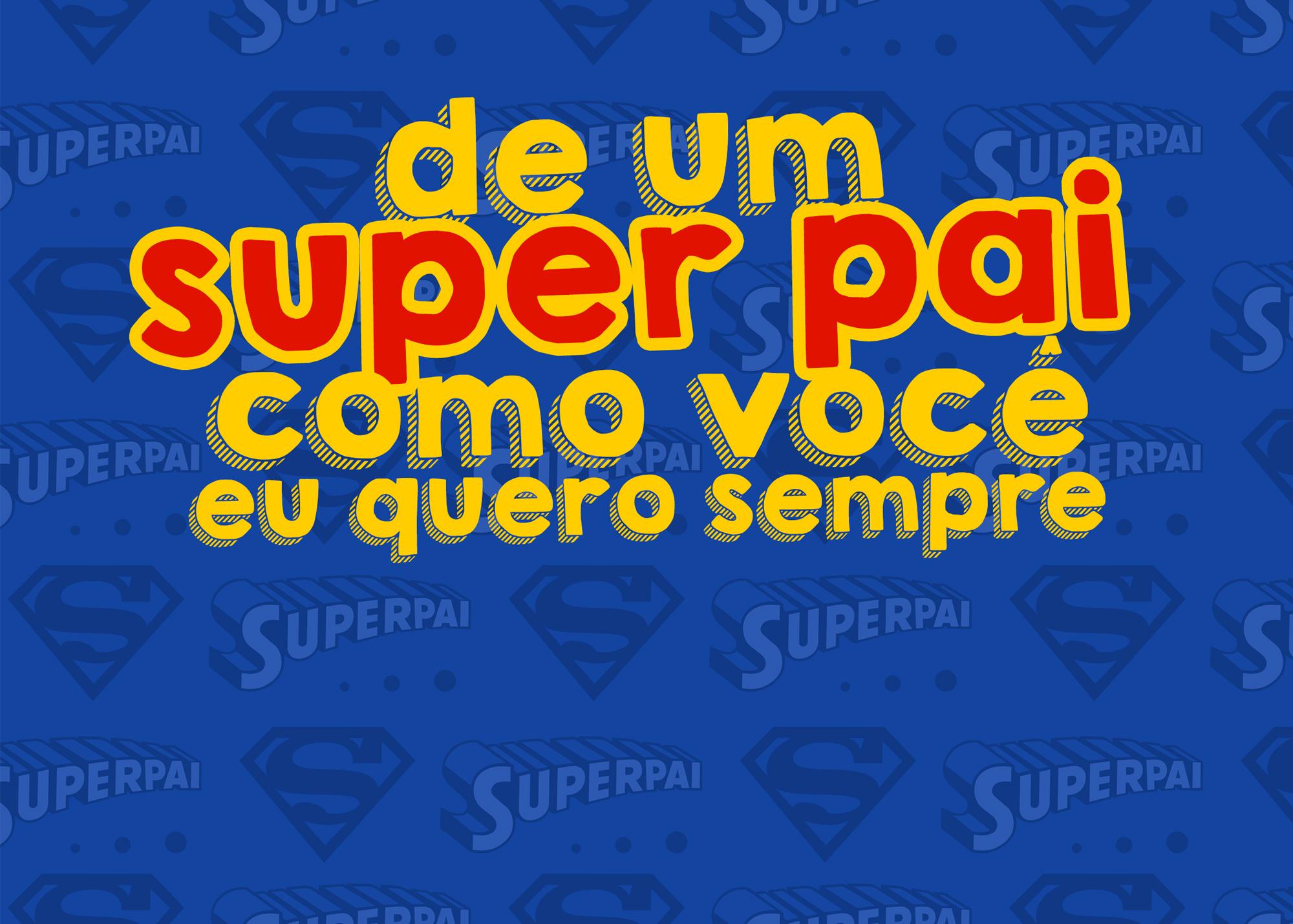 Cartão Bis Super Pai Kit Presente Dia dos Pais