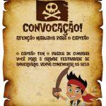 Convite Pergaminho Jake e os Piratas da Terra do Nunca 1