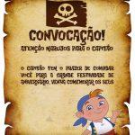 Convite Pergaminho Jake e os Piratas da Terra do Nunca 2