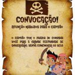 Convite Pergaminho Jake e os Piratas da Terra do Nunca 3