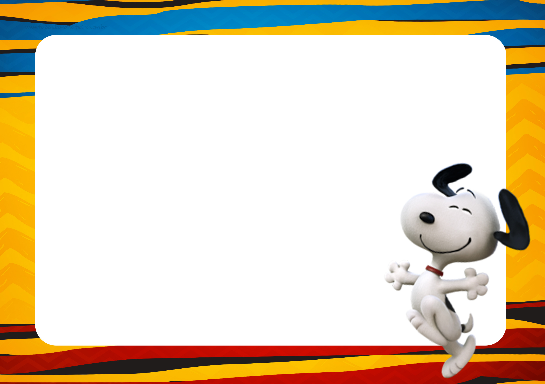 Convite Snoopy e sua Turma 3