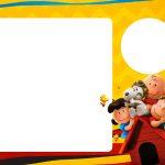 Convite com Foto Snoopy e sua Turma