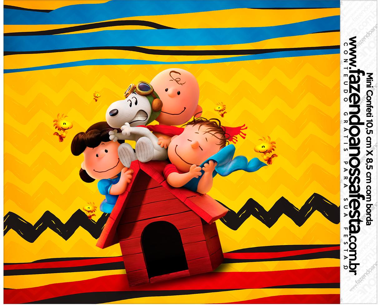 Mini Confeti Kit Festa Snoopy e sua Turma