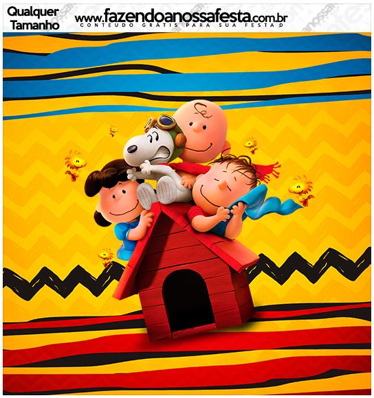 Molde quadrado Snoopy e sua Turma