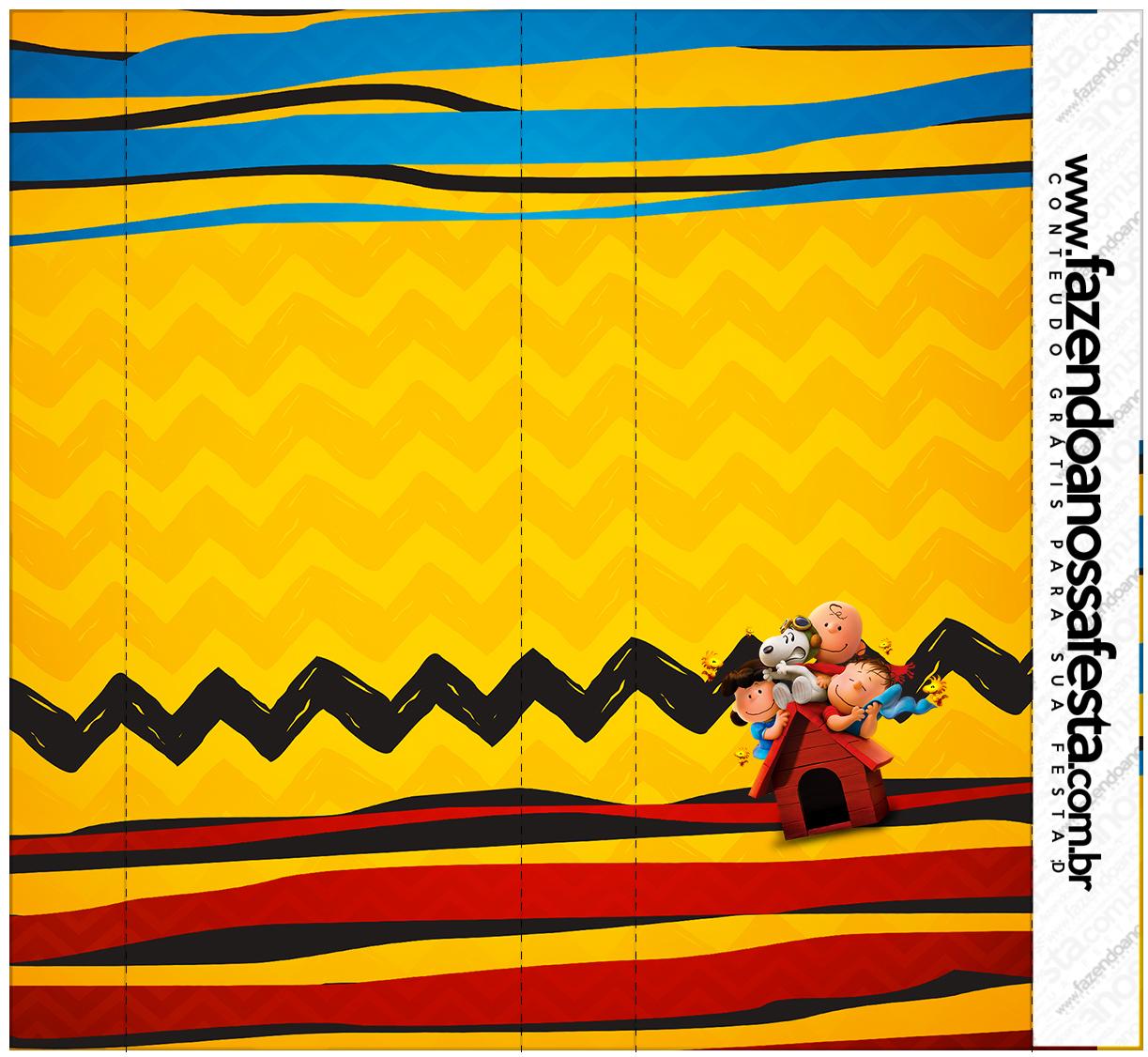 Pirulito Mastigavel Kit Festa Snoopy e sua Turma