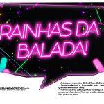 Plaquinhas Neon para Meninas 3