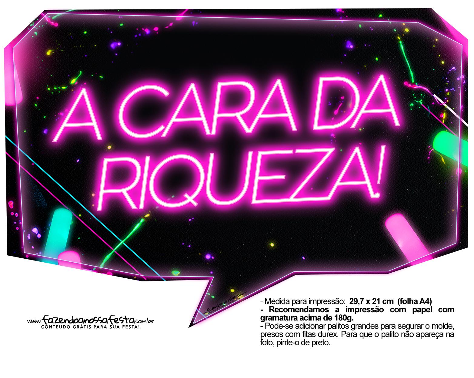 Plaquinhas Neon para Meninas 4 - Fazendo a Nossa Festa