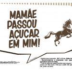 Plaquinhas divertidas Cavalos 2