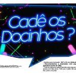 Plaquinhas divertidas Neon 9