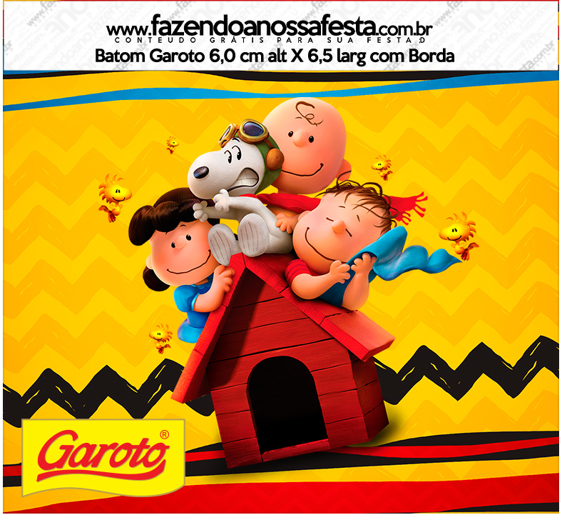 Rotulo Baton Snoopy e sua Turma