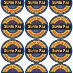 Rótulo Cerveja Super Pai Kit Presente Dia dos Pais